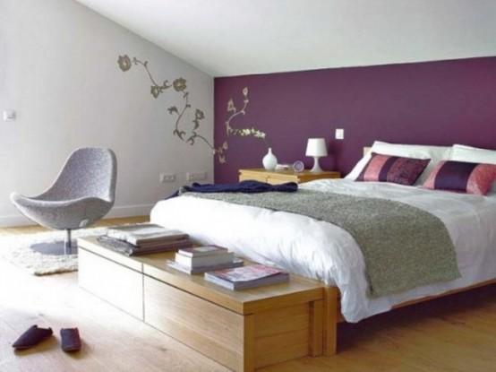Idee camera da letto viola 49