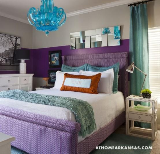Idee camera da letto viola 50
