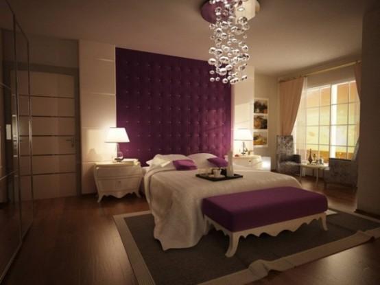 Idee camera da letto viola 51