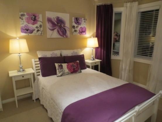 Idee camera da letto viola 7