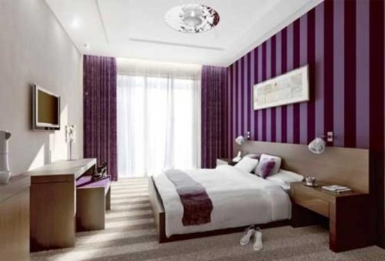 Idee camera da letto viola 9