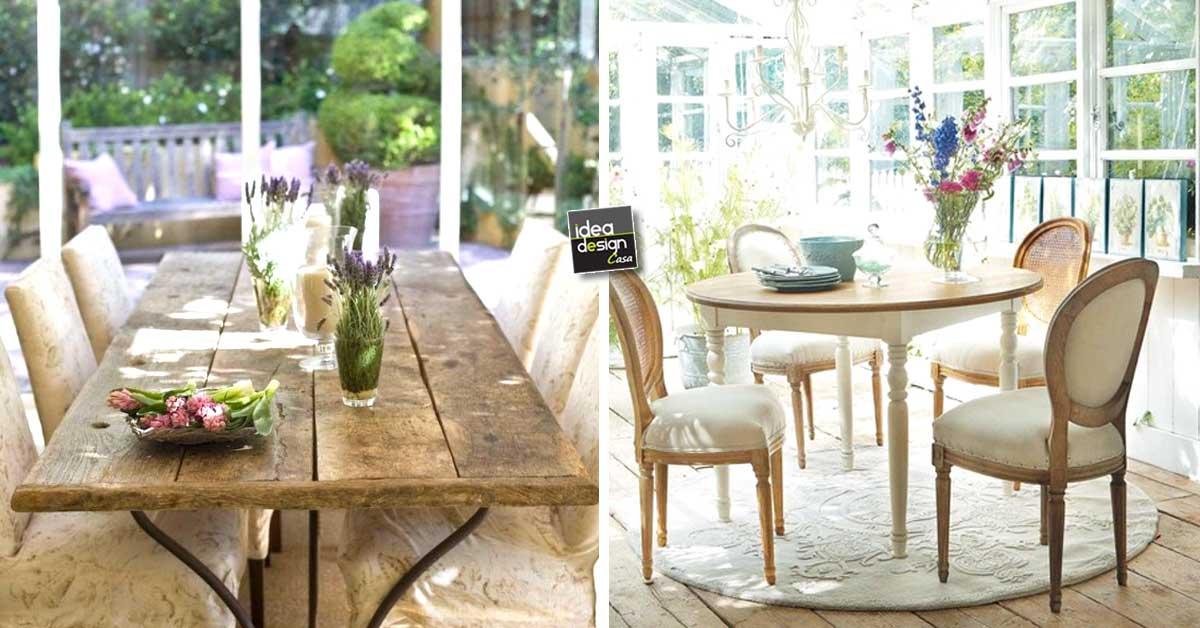 Idee-sala-da-pranzo-stile-provenzale - IdeaDesignCasa