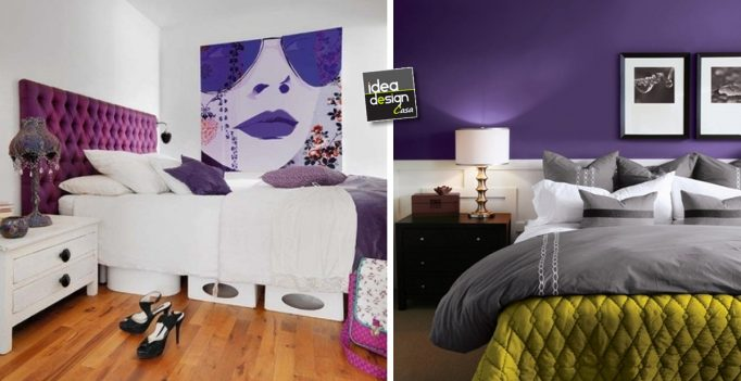 Arredare la camera da letto con il viola 51 idee - Idee x arredare camera da letto ...