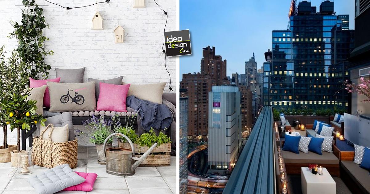 Arredare il terrazzo 33 idee per un terrazzo design for Arredare il terrazzo fai da te