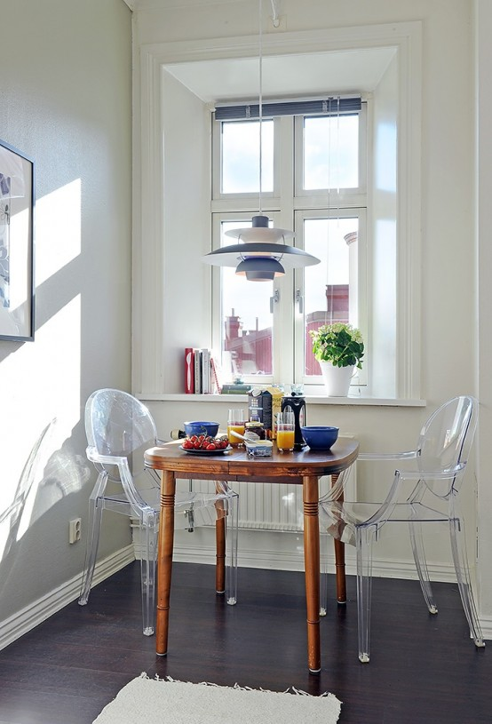 Piccola sala da pranzo 44 idee per arredarla con stile for Sala da pranzo kartell