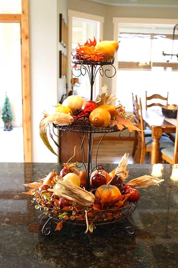 decorazione cucina in autunno