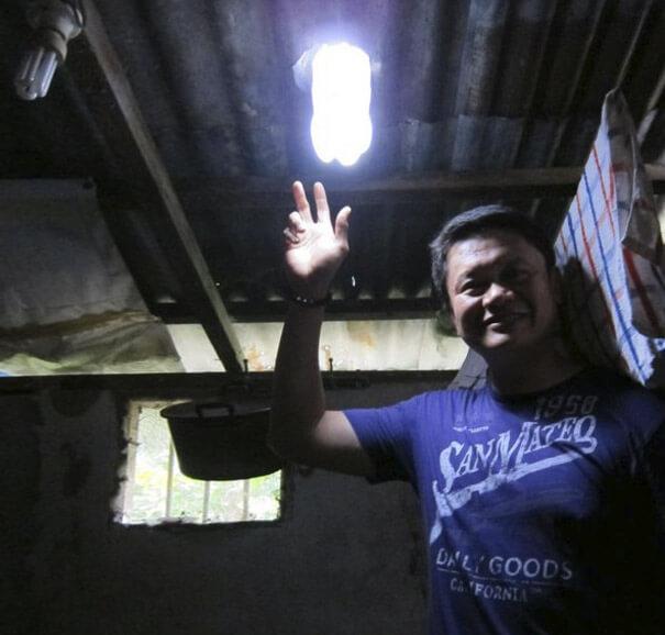lampadina solare fai da te