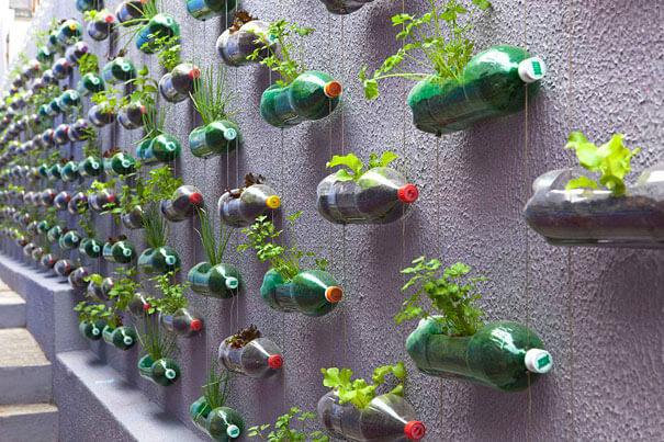 idee per riciclare bottiglie di plastica