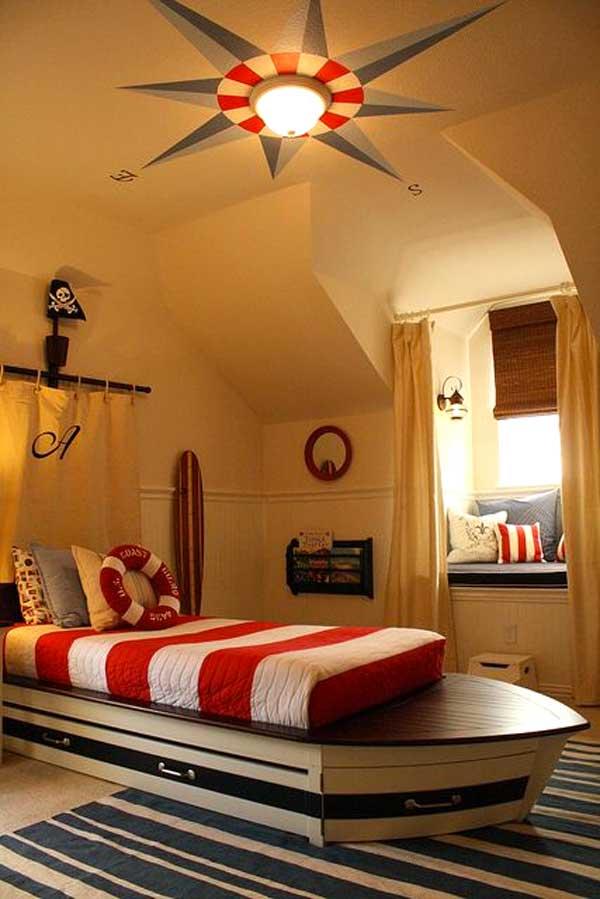 Decorare la cameretta 32 idee camerette a tema mare - Camera da letto bambino ...