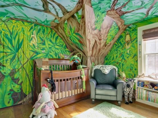Arredare camera bambino tema foresta