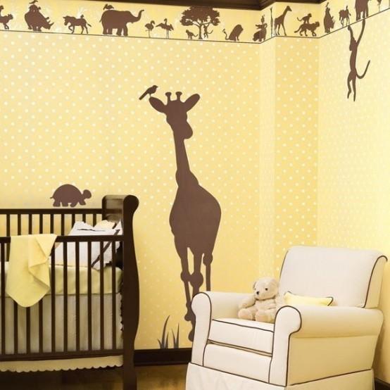 Arredare camera bambino in tema della foresta