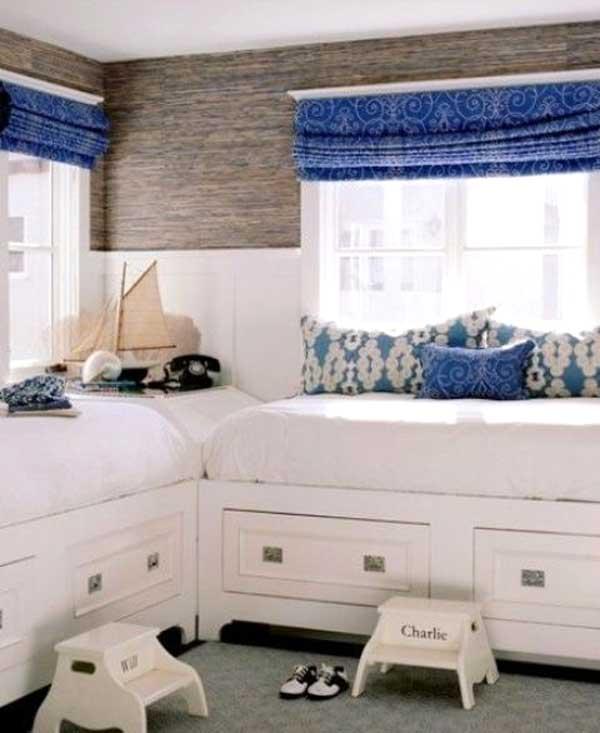 Decorare la cameretta 32 idee camerette a tema mare - Idee per camerette piccole ...