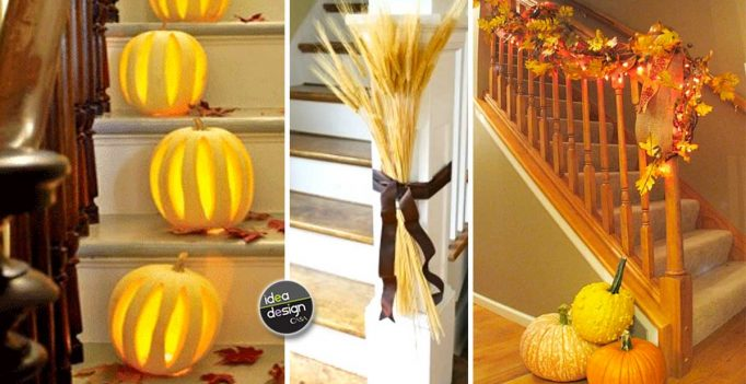 Decorate the stairs in autumn: 29 creative ideas to decorate the stairs