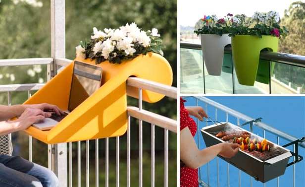 Space saving ideas balcony: 21 accessories for balcony