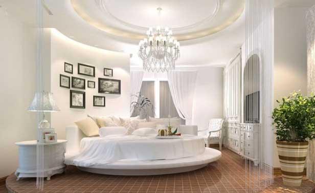 Letto tondo 27 camere da letto con letti magnifici for Stanza per ragazze