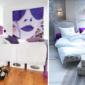 Arredare la camera da letto con il viola