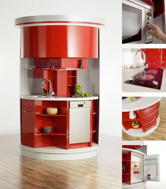 Cucina salvaspazio circle di compact concepts for Salvaspazio cucina