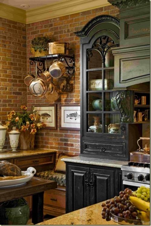 cucine parete mattoni 10