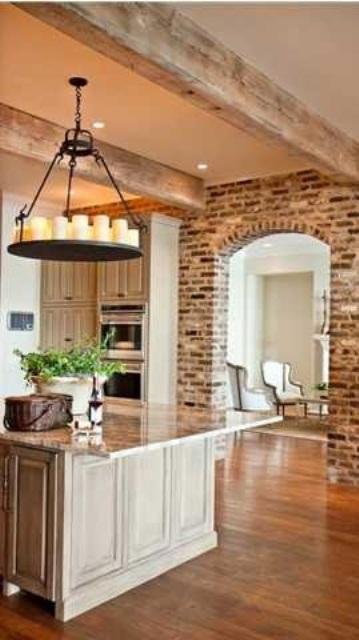 cucine parete mattoni 12