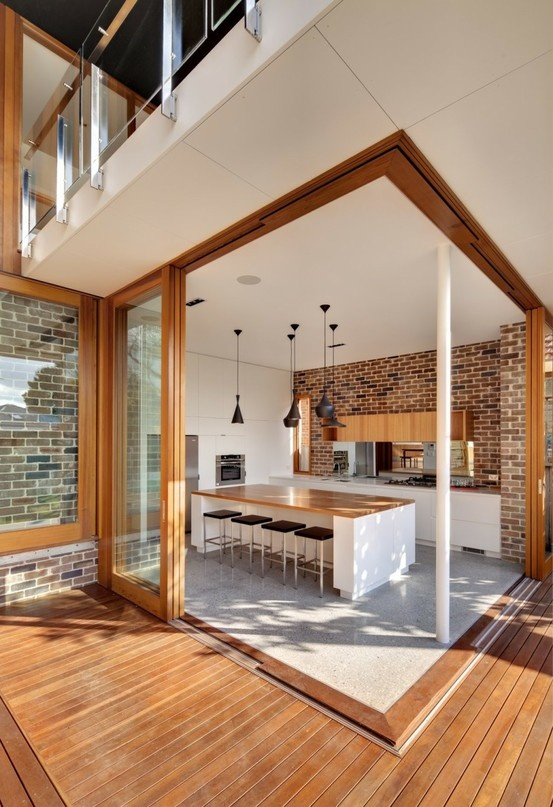 Parete mattoni a vista cucina 69 cucine con pareti di mattoni - Archi mattoni vista in cucina ...