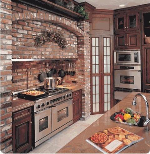 cucine parete mattoni 26