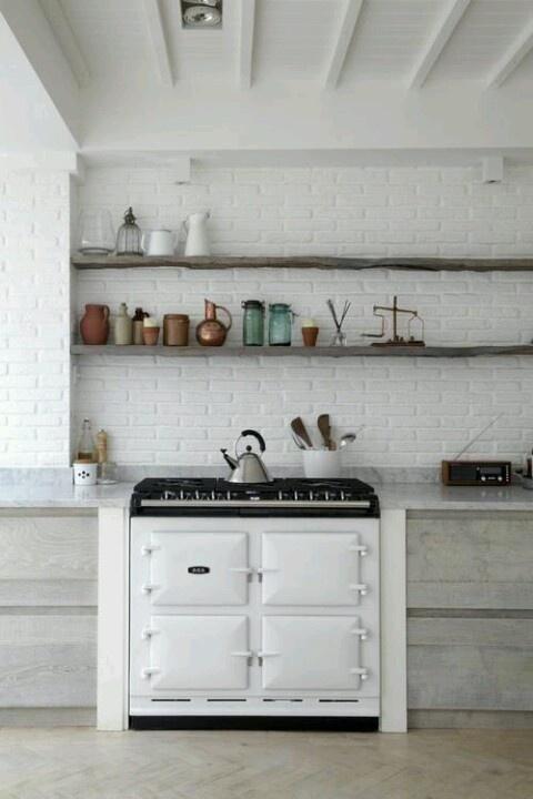 cucine parete mattoni 31
