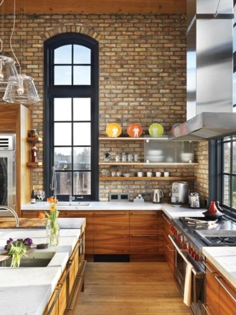 Kitchen Brick Wall Decor
