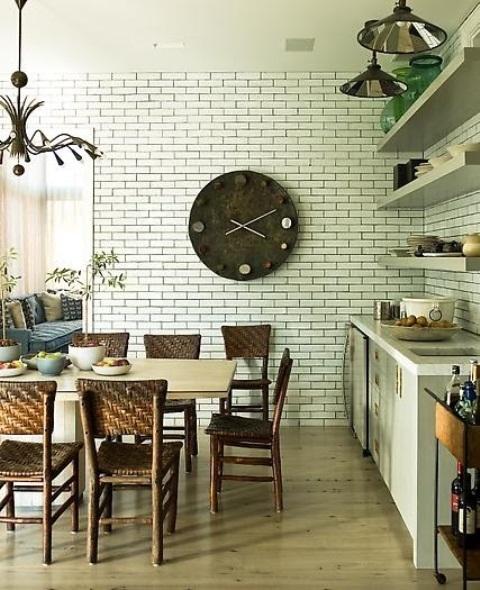 cucine parete mattoni 42