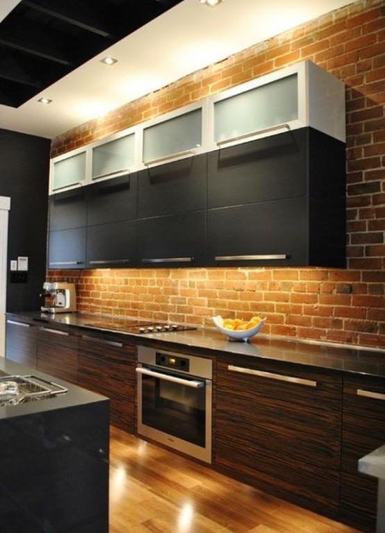 Parete mattoni a vista cucina 69 cucine con pareti di - Cucine a vista ...