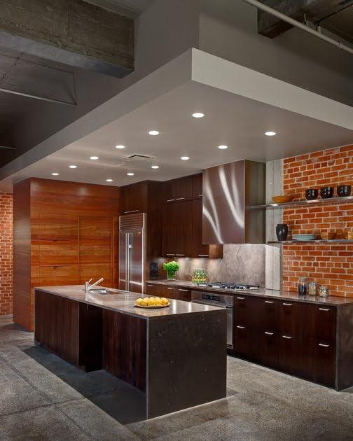 Parete mattoni a vista cucina 69 cucine con pareti di - Parete con mattoni a vista ...