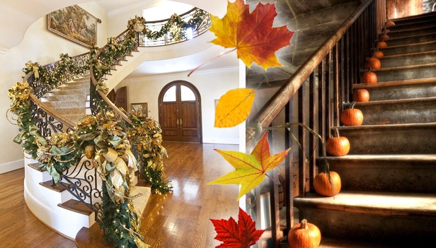 Decorare scale in autunno 29 idee creative per decorare - Idea per la casa ...