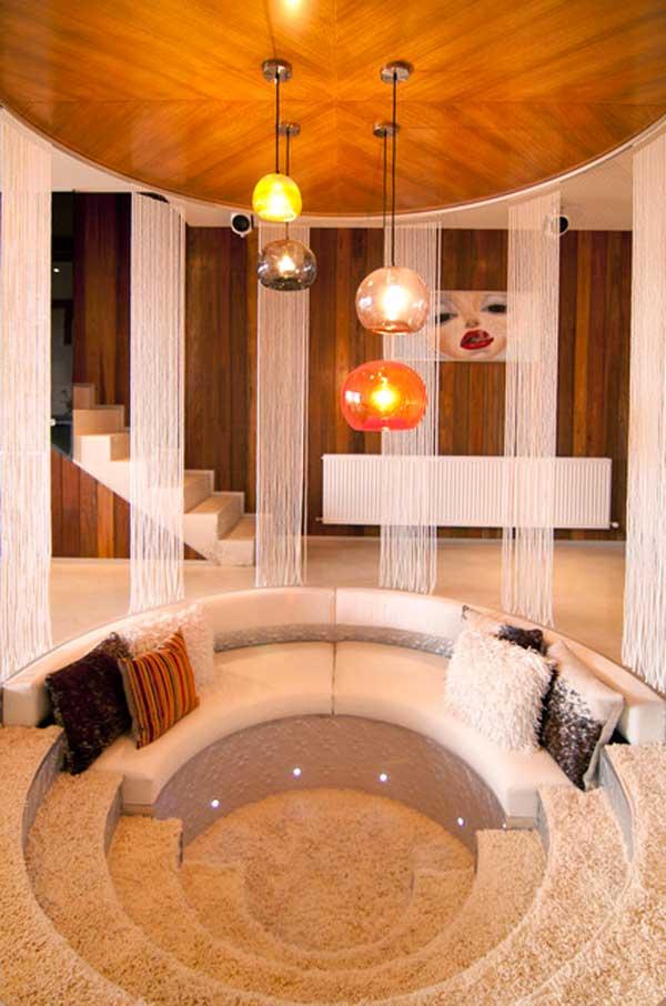 divani originali incorporato nel pavimento 20 idee a cui ispirarsi