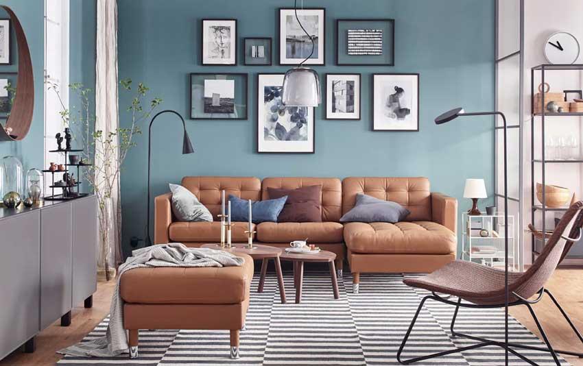 Ikea Divani In Pelle.Arredare Il Soggiorno Da Ikea 24 Bellissimi Soggiorni Catalogo 2019