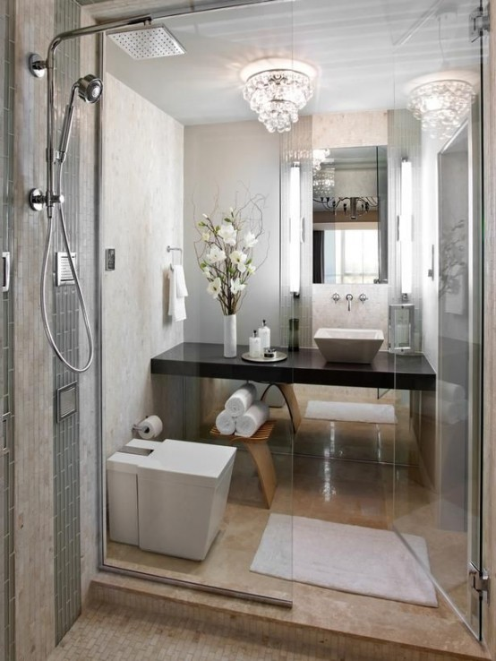 Arredare un bagno piccolo 26 idee da scoprire for Elegant master bathroom ideas