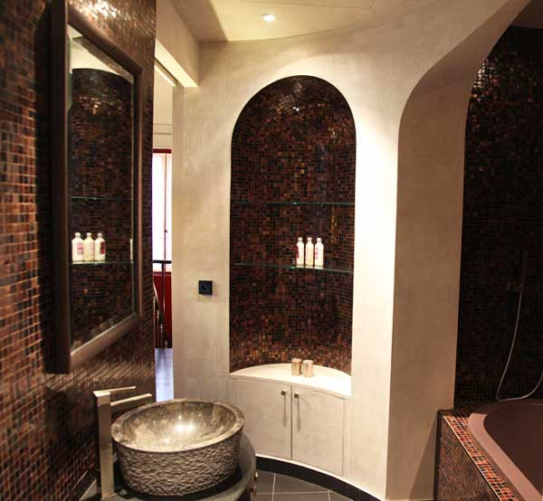 Bagno orientale 15 idee per arredare un bagno stile orientale for Salle de bain style hammam
