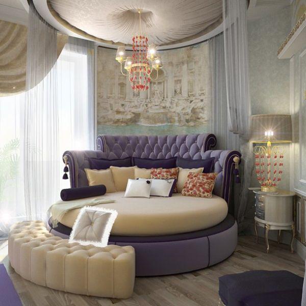 Un letto tondo