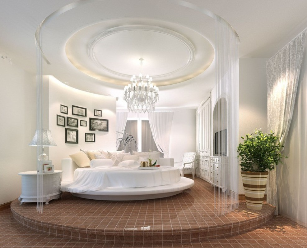Letto tondo 27 camere da letto con letti magnifici for Letti tondi
