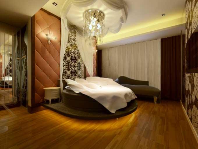 Un letto tondo in camera da letto! ecco 27 esempi magnifici