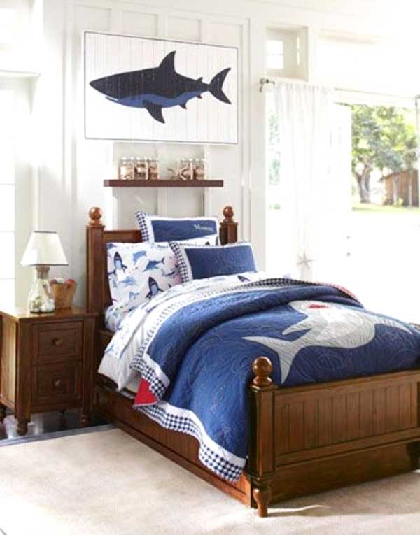 shark bedroom decor decorare la cameretta 32 idee camerette a tema mare 13143