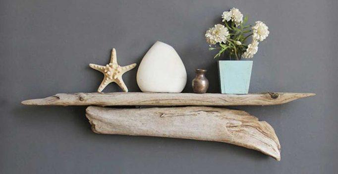 Mensole design ecco 11 mensole realizzate con rami e - Rami di legno decorativi ...