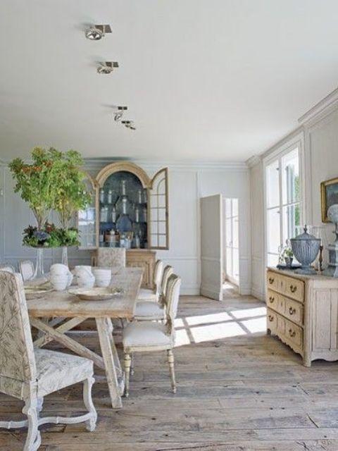 ssala da pranzo moderna 24 idee di stile : Sala da pranzo provenzale: 29 idee di arredamento in stile provenzale