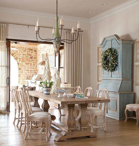 Sala da pranzo provenzale 29 idee stile provenzale for Salotto e sala da pranzo