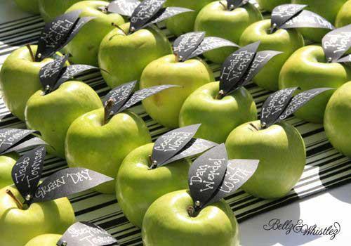 segnaposti con mele