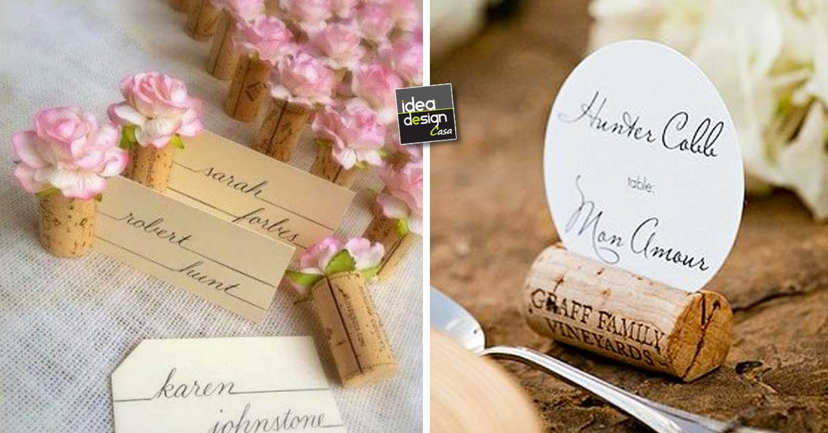 Segnaposti Matrimonio Natalizio : Segnaposti tappi di sughero ecco idee creative a cui
