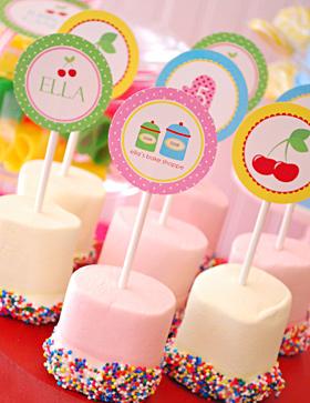 segnaposto marshmallow