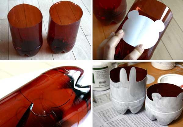 come fare un vaso con una bottiglia di plastica