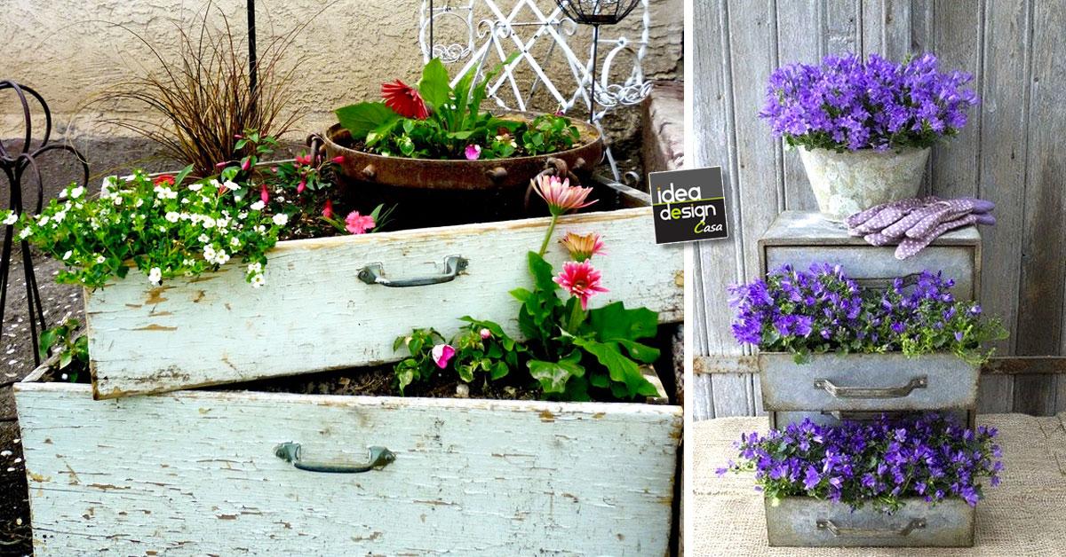 Riciclo cassettiera 20 fioriere con la vecchia cassettiera for Idee per realizzare una fioriera