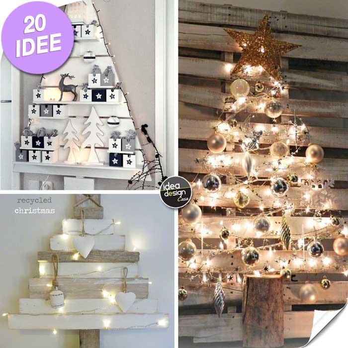 Albero Di Natale Con Pallet 20 Idee Fai Da Te Molto