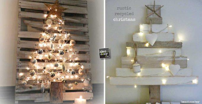 rbol de Navidad con la plataforma 20 ideas de bricolaje muy