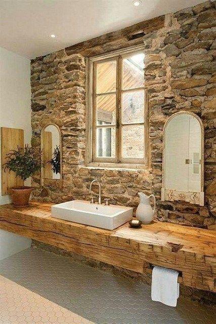 idee bellissime per un bagno stile rustico idea bagno in stile rustico ...